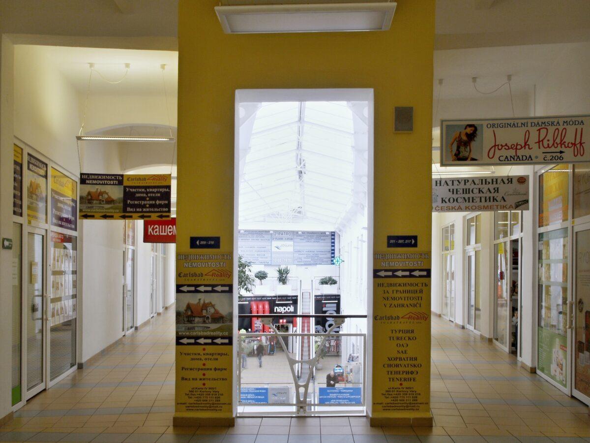 Interiér ATRIA, nákupního centra