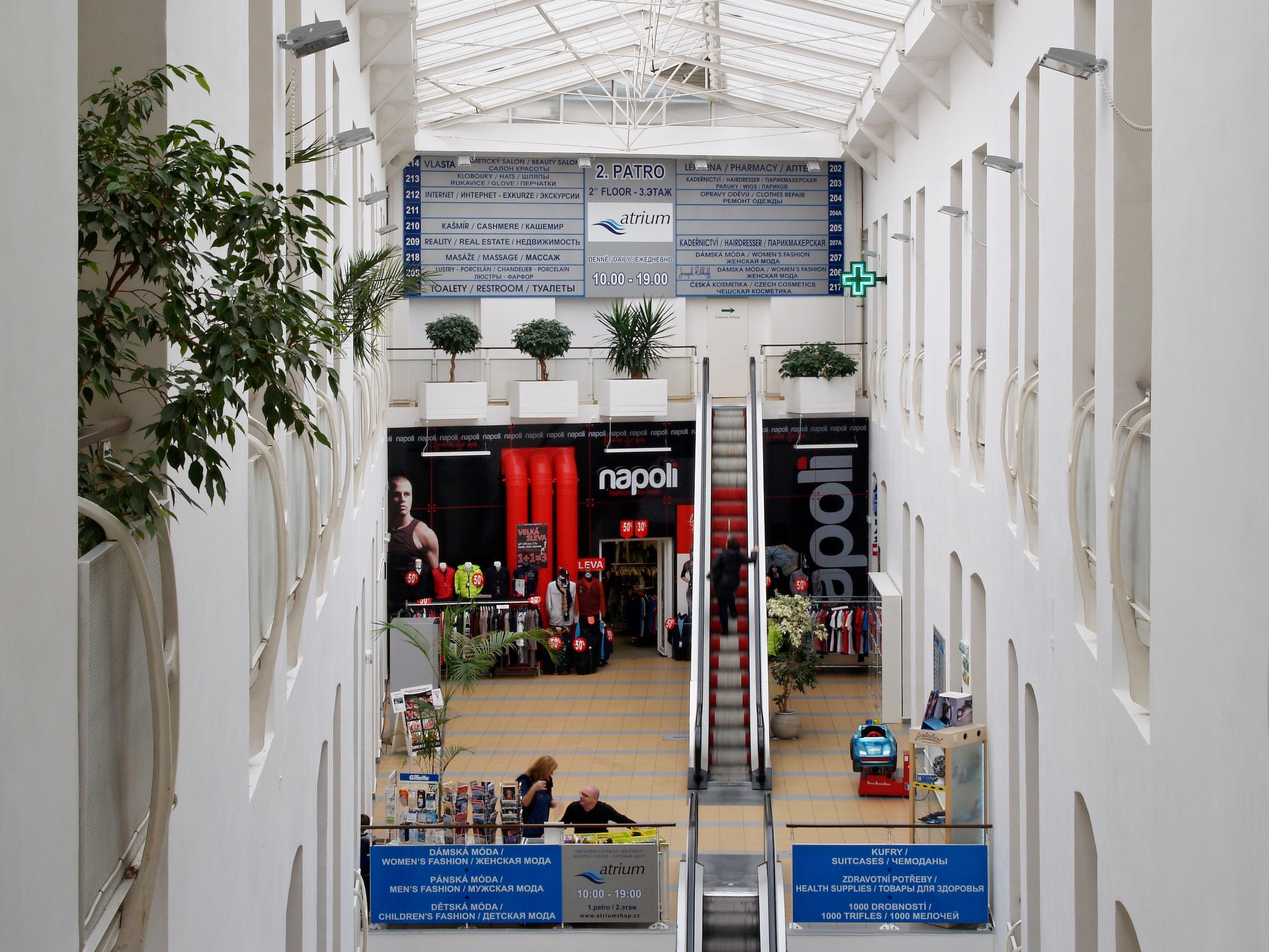 Obchodní centru v Karlových Varech, Atrium